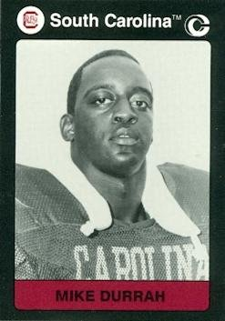 Mike Durrah Football card (South Carolina) 1991 Collegiate Collection ()