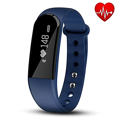 Fitness Tracker with Heart Rate Monitor, Hembeer V3 Smart Bracelet Pedometer Activity Fitness Tracker Sleep monitor Bluetooth 4.0 Wristband with app for iOS & Android Smartphone, (V3 Watch Phone)