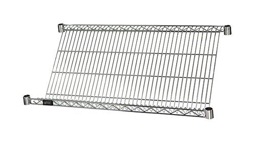 48'' Wide x 24'' Deep, Chrome Slanted Wire Shelf Add-On Unit by Quantum Storage Systems