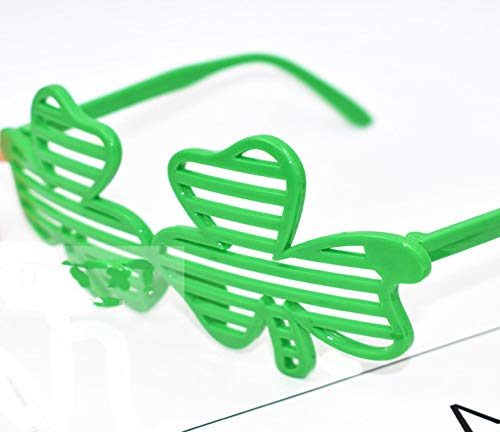 Vertily Decoration Glasses Irish Festive Green Shamrock Clover Eyeglasses Party Favor Costume Accessory Photo,Accessories for Costume