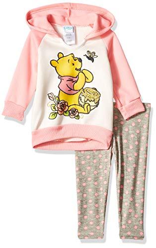 Disney Baby Girls Winnie The Pooh 2 Piece Fleece Set, Peach 12M