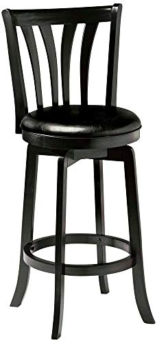 Hillsdale Savana Swivel Counter Stool, Black