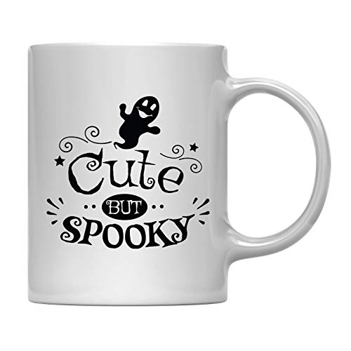 Andaz Press 11oz. Coffee Mug Gift, Cute But Spooky, Halloween October Present Ideas with Gift Box