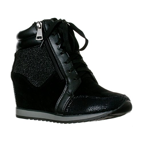 Image result for wedge sneakers black
