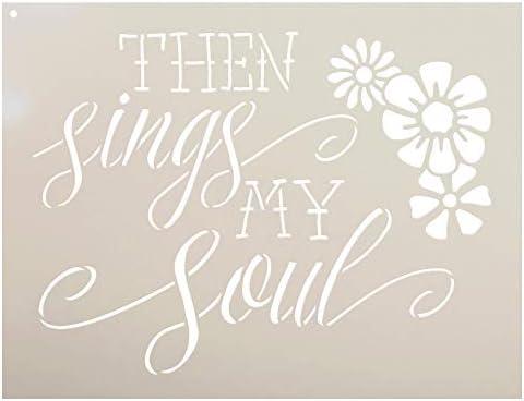 Amazon.com: Then Sings - Flowers - Word Art Stencil - STCL1889 - by StudioR12 (17