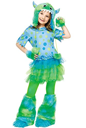 [Fun World girls Big Girls' Monster Miss Costume Large (12 - 14)] (Girls Monster Halloween Costumes)