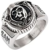 Sons of Anarchy Grim Reaper Skull Stainless Steel Ring