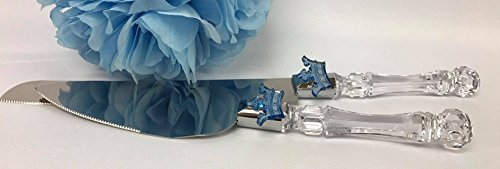 - Baby Boy Royal Prince Blue Baby Shower or Birthday Party Supply Cake Knife and Server Set Keepsake Royal Party Supplies