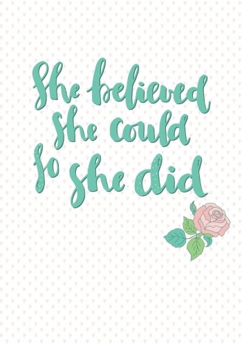 Download She Believed She Could So She Did: A Journal pdf