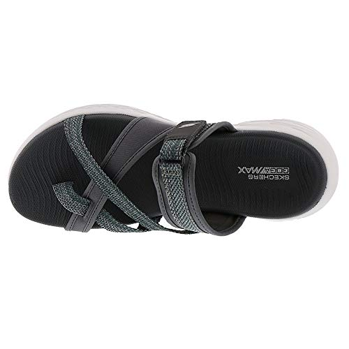 Skechers Performance On The Go 600-Glow Women's Sandal 6 B(M) US Charcoal by Skechers (Image #1)