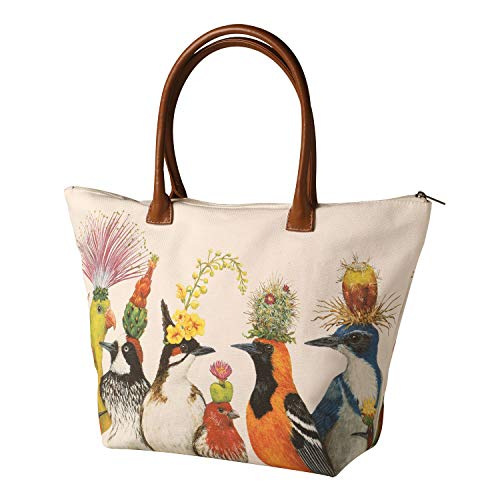 Paper Products Design Women's Vicki Sawyer Bird Entourage Canvas Tote Bag
