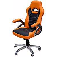 ViscoLogic Series Gaming Racing Style Swivel Office Chair, Orange&Black YF-2741-OB