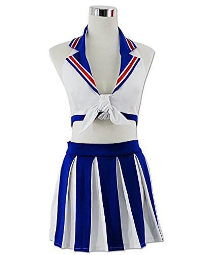 HOLRAN Anime Super Sonico Nurse Uniform cosplay costume dress (Custom Made, White)