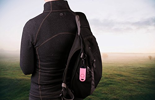 B A S U eAlarm+ with Tripwire Hook, Emergency Personal Alarm, Battery Included, Carabiner Included, Pink by B A S U (Image #7)