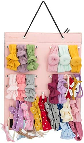 Newborn Headbands and Bows Hanging Organizer Pacmaxi Baby Girl Headbands Storage Holder