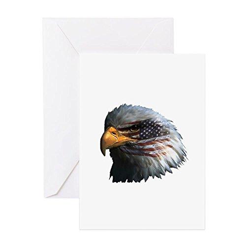 CafePress - USA Eagle - Greeting Card, Note Card, Birthday Card, Blank Inside (Blank Flag Sweatshirt)