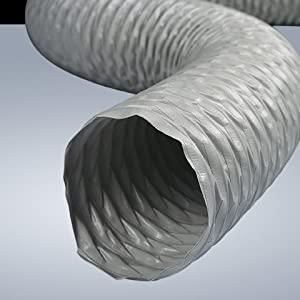 Kair Grey Polyester Reinforced Pvc Flexible Ducting Hose