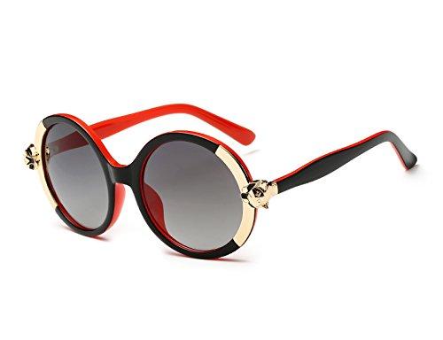 UV400 Colores Mujer Azul Oculos Dentro Marca Calidad de Fox de Marco Dentro de Color 1518 Redondas de Gafas Gafas Del gradiente Sol de Sol ado de Alta Zygeo Mujer Dise Rojo Marco 7xFSRqZZ