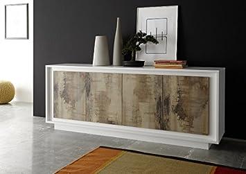 Entzuckend Arredocasagmb.it Schrank 4 Türen Moderne Weiß Matt Wohnzimmer Türen Effekt  Holz Birnbaum Antik Anrichte