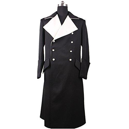 German Officer Fancy Dress Costume (WW2 German SS Breasted Officer's Gala Overcoat-42L)