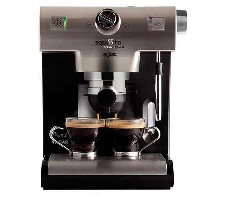 Máquina de café expresso New Squissita Plus CE4551- acero inoxidable/negro: Amazon.es: Hogar