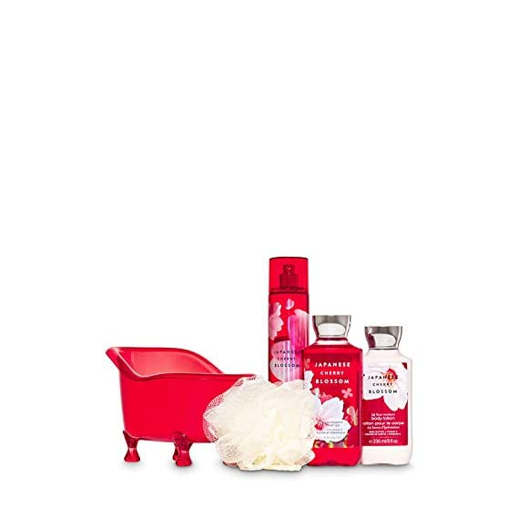 Bath and body works Japanese cherry blossom tub gift set large size