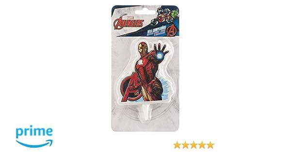Vela cumpleaños 2D Vengadores Avengers Capitan Iron Man Marvel