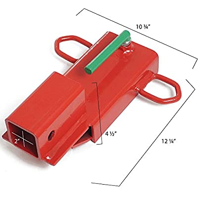 Titan Attachments Clamp On Forklift Hitch Receiver Pallet Fork Trailer Towing Adapter 2