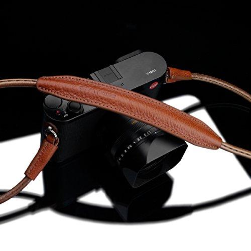 Gariz XS-CSNMCM Medium Size 100CM Genuine Leather Camera Neck Strap for Mirrorless Cameras Camel Brown