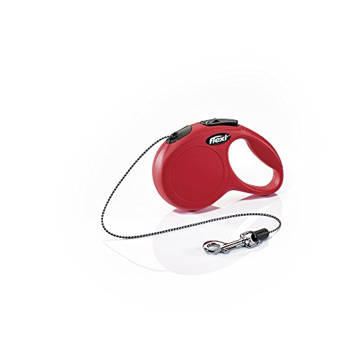 Flexi New Classic Retractable Dog Leash (Cord), 10', x Small, Red (Leash Dog Retractable Animal)
