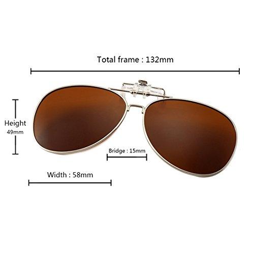 en libre Marrón de de Gafas Aiweijia abatibles para aire al deportes polarizadas gafas sol sol ngIfTaq