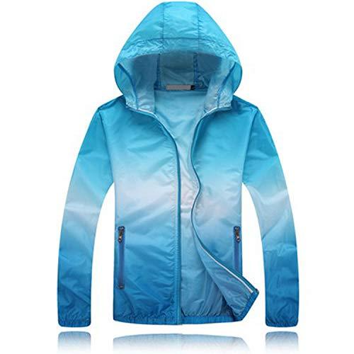 Plus Size Sun Protective Lovers Men Women Jacket Summer Ultrathin Breathable Windbreaker Coat Women's Casual Jackets Aw073 Blue