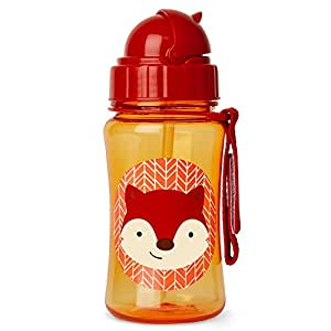 Skip Hop Zoo Straw Bottle, 350ml capacity, Ferguson Fox