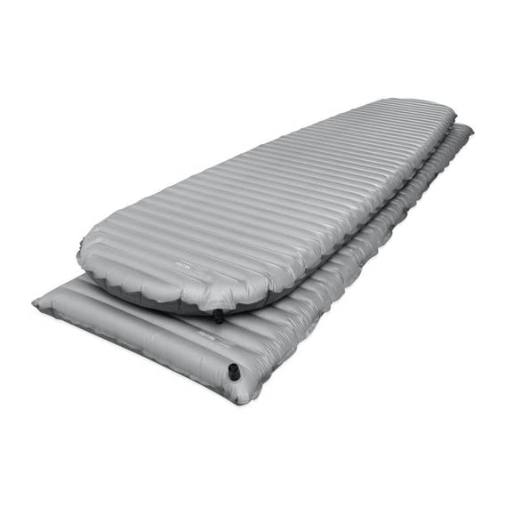 Therm-a-Rest NeoAir XTherm MAX Rectangular Lightweight Inflatable Backpacking Air Mattress 3 Rectangular inflatable sleeping for backpacking and camping offers maximum warmth for weight, ideal for sleeping in cold, wintry conditions Reflective ThermaCapture technology traps radiant heat while Triangular Core Matrix baffled construction provides stability and minimizes heat loss Rectangular design offers added ground coverage; textured, no-slip fabric ensures that sleeping bags stay put during the night