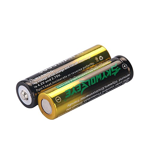 (2-Pack 18650 Rechargeable Battery, 3000mAh 3.7V Rechargeable Li-ion Battery for Electric Tools, Toys, LED Flashlights, Torch, Rechargeable Batteries)
