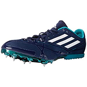Adidas Performance Adizero MD 2 Running Shoe,Collegiate Navy/White/Green,11 M US