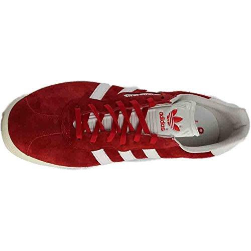 Adidas Hommes Gazelle Super Originaux Chaussure Décontractée Rouge / Vintage Blanc / Or Métallique
