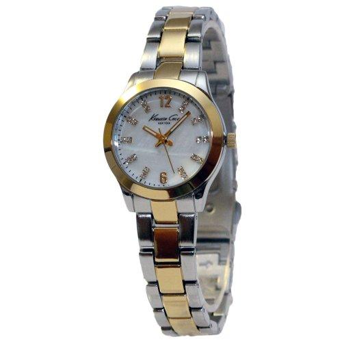 Kenneth Cole KCW4024 Women's New York MOP Dial Two Tone Steel Watch