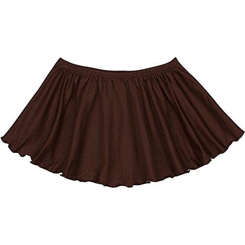Toddler and Girls Flutter Ballet Dance Skirt Brown M (8)