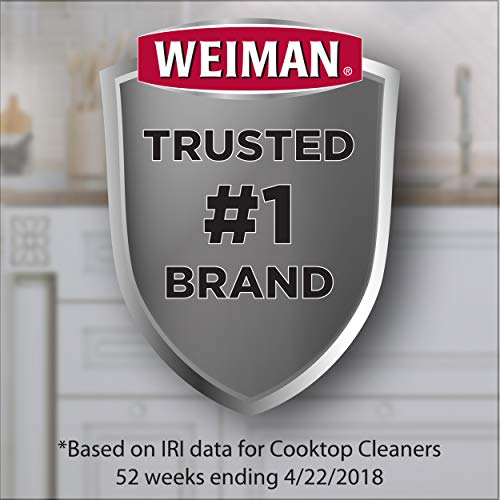 Weiman Cooktop Cleaner Kit - Cook Top Cleaner and Polish 10 ounces. Scrubbing Pad, Cleaning Tool, Cooktop Razor Scraper