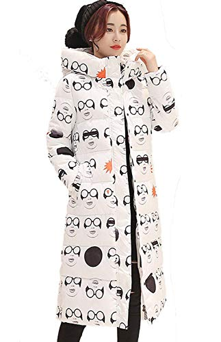 Parka Invierno De Chaqueta Chimenea Moda Elegante Estrella Estampado Ocio Capucha Mujer Abrigo Modelo Cálido Battercake Larga Manga Acolchada Oversize Con Abajo 5wBIExq