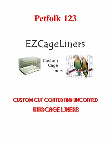 EZ Cage Custom Cut Birdcage Liners Square-Rectangular-Round Plain Paper and Coated