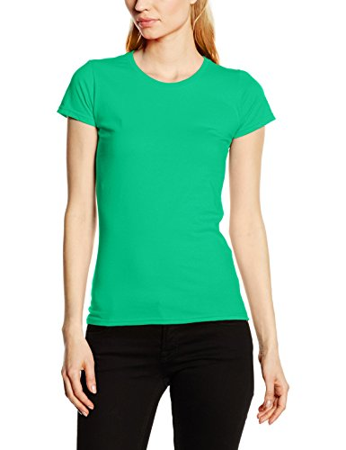 Fruit of the Loom Ss125m, Camiseta para Mujer Verde (Kelly Green)