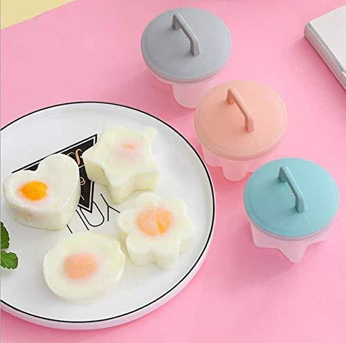Outil de cuisson mignon pocheuse plastique oeuf chaudi/ère Cuisine Egg Cooker Outils Formulaire de moule Egg Maker avec couvercle brosse Pancake outil de cuisine 4 pi/èces Set outil de cuisine
