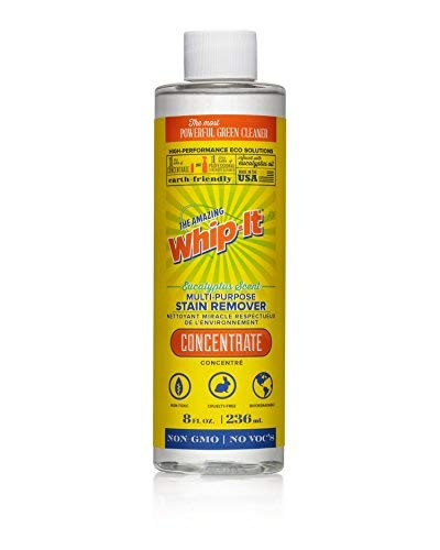 Whip-It Multi-Purpose Stain Remover - 8oz Concentrate - Plant-Based with All 6 Enzymes - All Natural - Made in -