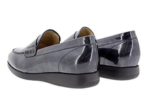 Calzado mujer confort de piel Piesanto 9634 zapato mocasín cómodo ancho Gris