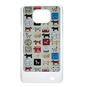 qyf Little Dogs Pattern Protective Hard Back Case Cover for Samsung Galaxy S2 I9100