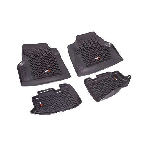 Rugged Ridge All-Terrain 12987.10 Black Front and Rear Floor Liner Kit For 1997-2006  Jeep Wrangler TJ and LJ Models ()