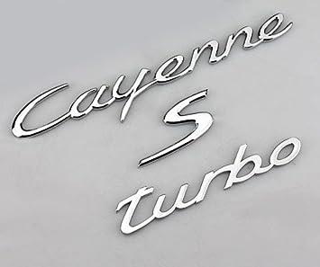 benzee B075 cromo Porsche Cayenne S Turbo decklid tronco Hatch coche emblema insignia adhesivo