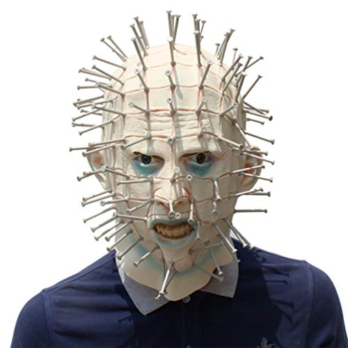 Novelty Halloween Cosplay Costume Masquerade Party Latex Creepy Scary Horror Hellraiser Pinhead Head Mask for $<!--$22.69-->